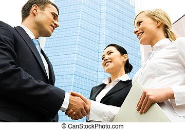 бизнес, рукопожатие
