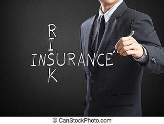 бизнес, человек, страхование, риск, письмо
