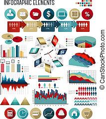 бизнес, template., vector., infographics