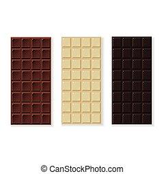 био, молоко, ручной работы, isolated, шоколад, вектор, темно, белый, белый