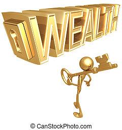 богатство, ключ