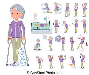 болезнь, квартира, тип, бабушка, спортивная одежда