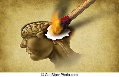 болезнь, слабоумие, головной мозг