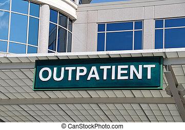 больница, знак, вход, амбулаторный