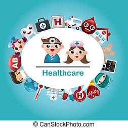 больница, карта, медицинская