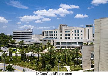 больница, пейзаж