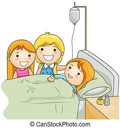 больница, посещение