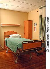 больница, постель