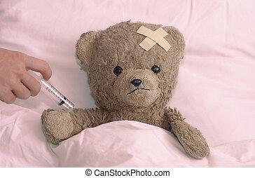 больница, тедди