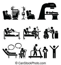 больница, терапия, медицинская, лечение