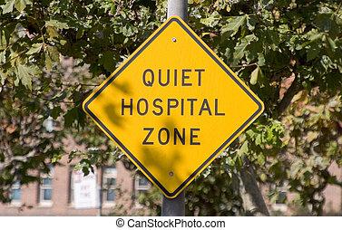 больница, тихо, знак