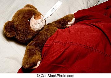 больной, медведь, тедди