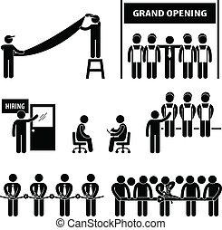 большой, бизнес, открытие