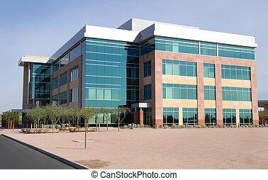 большой, здание, современное, офис