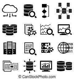 большой, icons, технологии, данные