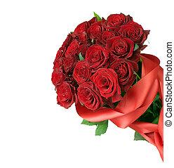 букет, большой, красный, roses