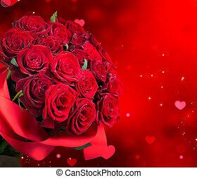 букет, красный, большой, roses