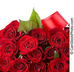 букет, roses, цветы, красный, border.
