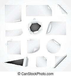 бумага, белый, задавать, дизайн, elements