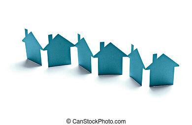бумага, здание, дом, имущество, главная, реальный