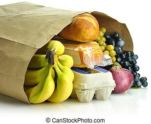 бумага, мешок, groceries