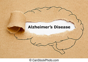 бумага, рваные, концепция, болезнь, alzheimers