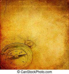 бумага, aged, компас
