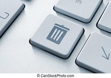 бункер, кнопка, мусор