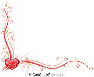 валентин, день, карта