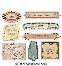 ваш, labels, вектор, задавать, марочный, design.