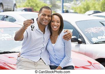 вверх, новый, пара, picking, автомобиль