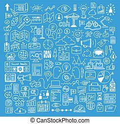 веб-сайт, разработка, elements, бизнес, doodles