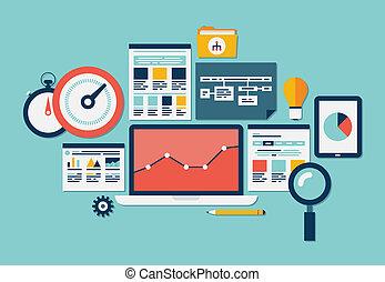 веб-сайт, seo, analytics, icons