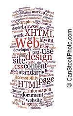 веб-сайт, web, слово, дизайн, облако