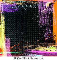 вектор, гранж, задний план, абстрактные