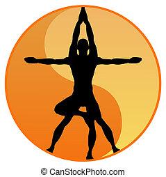 вектор, йога, баланс