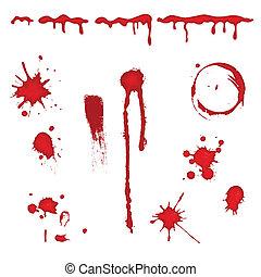вектор, кровь, -, плескаться