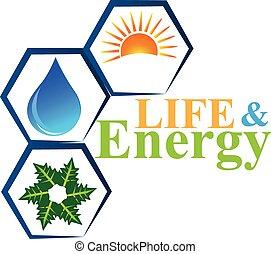 вектор, логотип, жизнь, elements, энергия