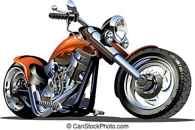 вектор, мультфильм, мотоцикл