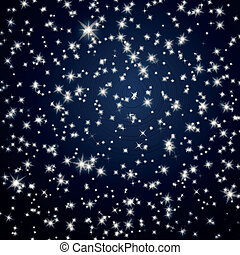 вектор, небо, число звезд:, задний план, ночь