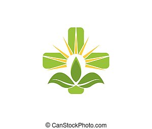 вектор, природа, здоровье, логотип