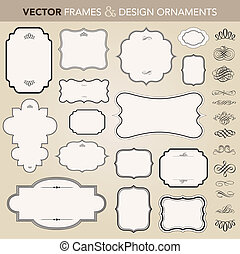 вектор, рамка, задавать, орнамент, богато украшенный