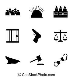 вектор, icons, справедливость, задавать