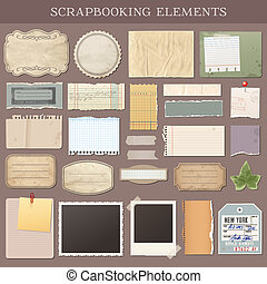 вектор, scrapbooking, elements