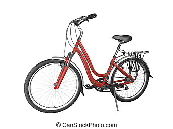 велосипед, красный, isoalted