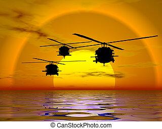 вертолет, blackhawk, армия