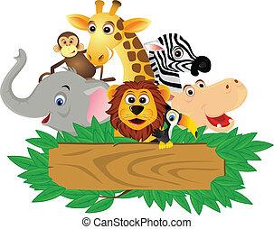 веселая, мультфильм, животное