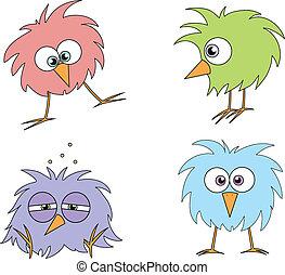 веселая, birds