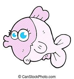 веселая, eyes, большой, рыба, симпатичная, мультфильм