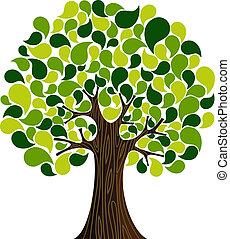 весна, абстрактные, дерево, время